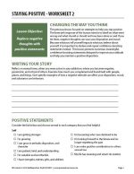 Staying Positive – Worksheet 2 (COD)
