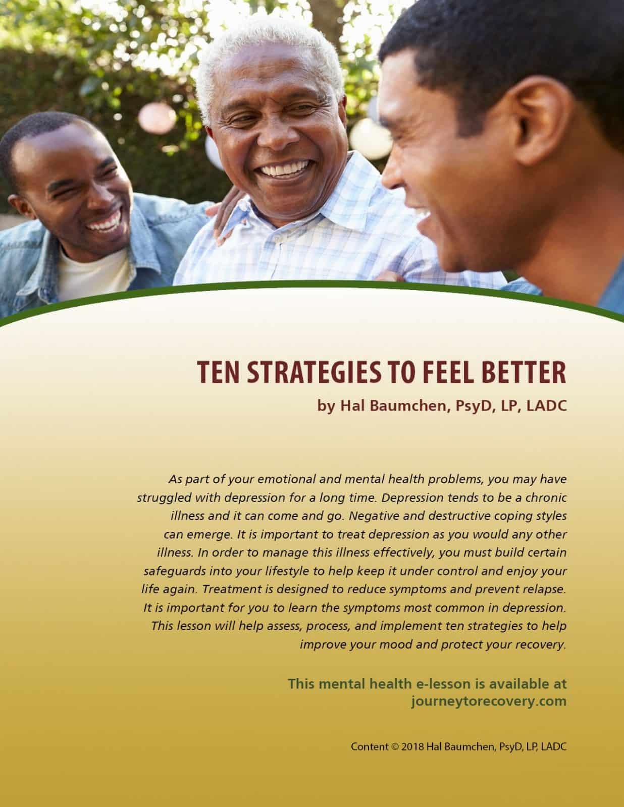 Ten Strategies to Feel Better (MH Lesson)