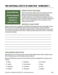 The Emotional Aspects of Addiction – Worksheet 1 (COD)