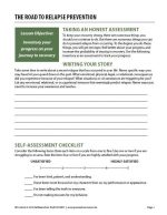 The Road to Relapse Prevention (COD Worksheet)