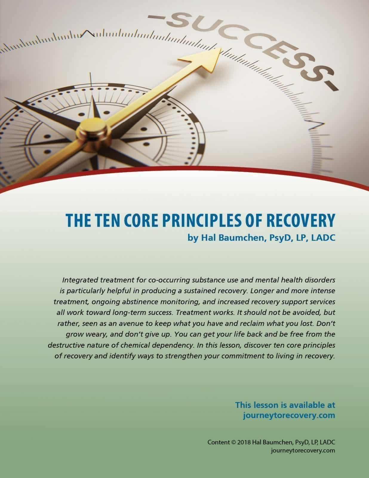 The Ten Core Principles of Recovery (COD Lesson)
