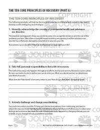 The Ten Core Principles of Recovery – Part A (COD Worksheet)