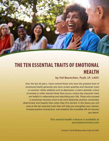 The Ten Essential Traits of Emotional Health (MH Lesson)