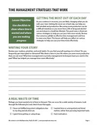 Time Management Strategies that Work (COD Worksheet)
