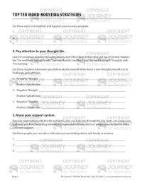 Top Ten Mood-Boosting Strategies (COD Worksheet)