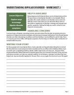 Understanding Bipolar Disorder – Worksheet 2 (COD)