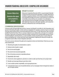 Understanding Obsessive-Compulsive Disorder (COD Worksheet)