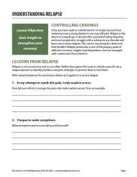 Understanding Relapse (COD Worksheet)