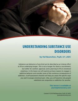 Understanding Substance Use Disorders (COD Lesson)