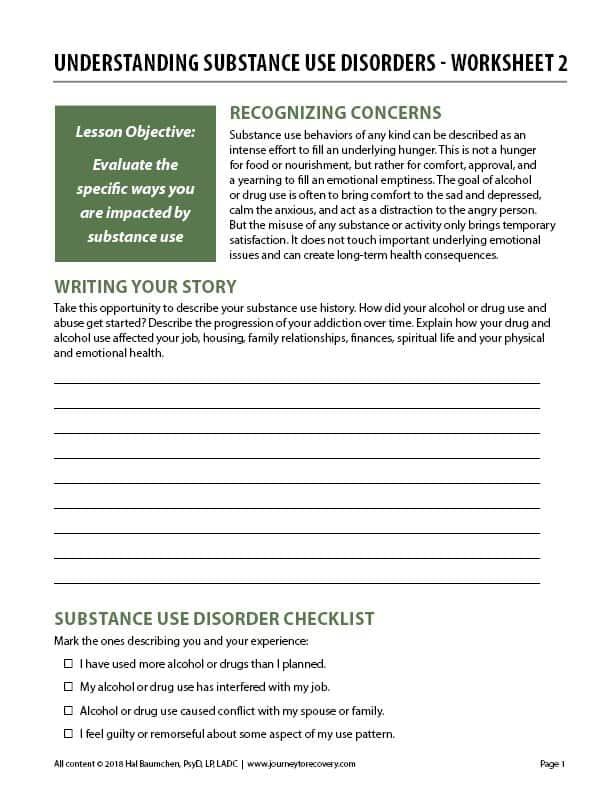 Understanding Substance Use Disorders – Worksheet 2 (COD)