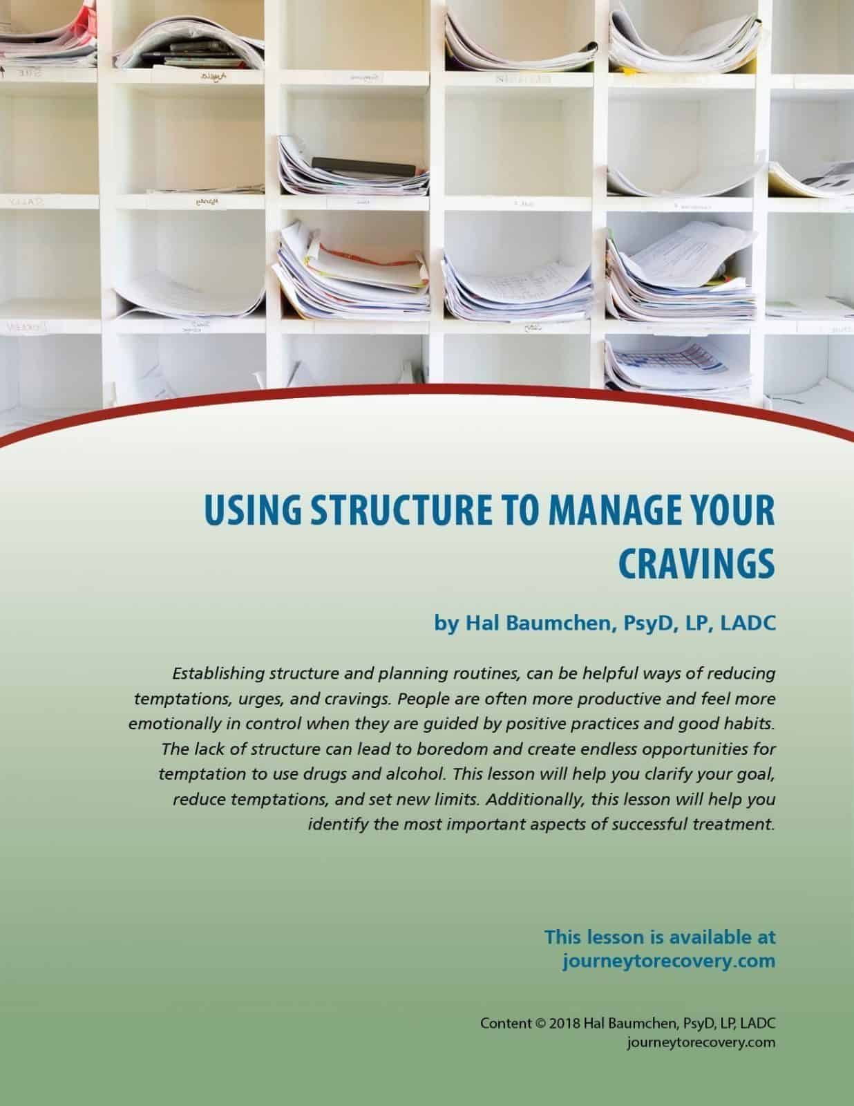 Using Structure to Manage Cravings (COD Lesson)