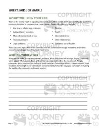Worry: Noise or Signal? (COD Worksheet)